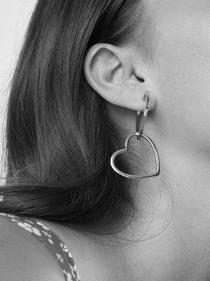 Double Heart Hoops