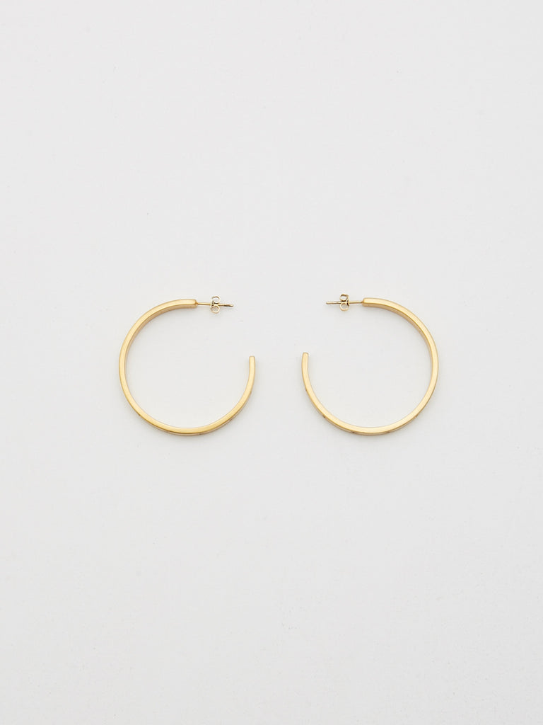 Gemma Diamond Hoops Earrings bagatiba