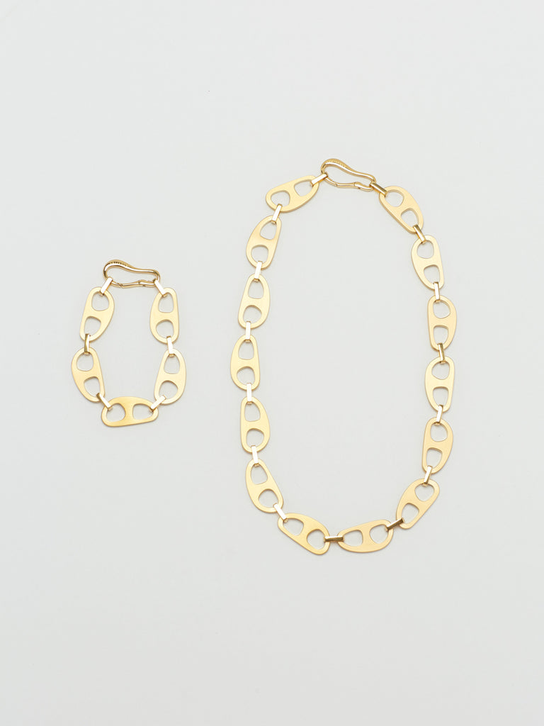 Gold Brushed Tab Necklace Necklace bagatiba