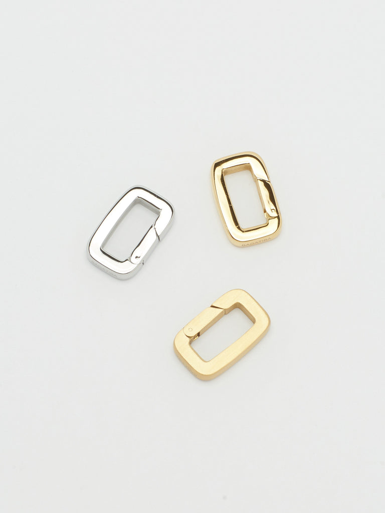 Full view flat lay of Gold, Brushed Gold & Silver  Cara Clip Bagatiba