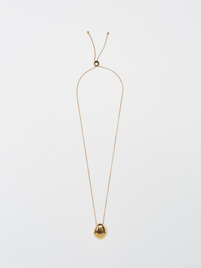 Full view flat lay of Gold Orb Necklace Necklace bagatiba