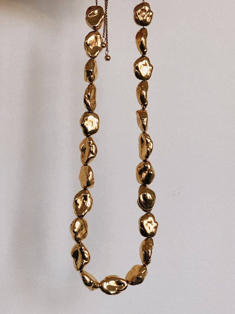 Gold Pearl Necklace Necklace bagatiba