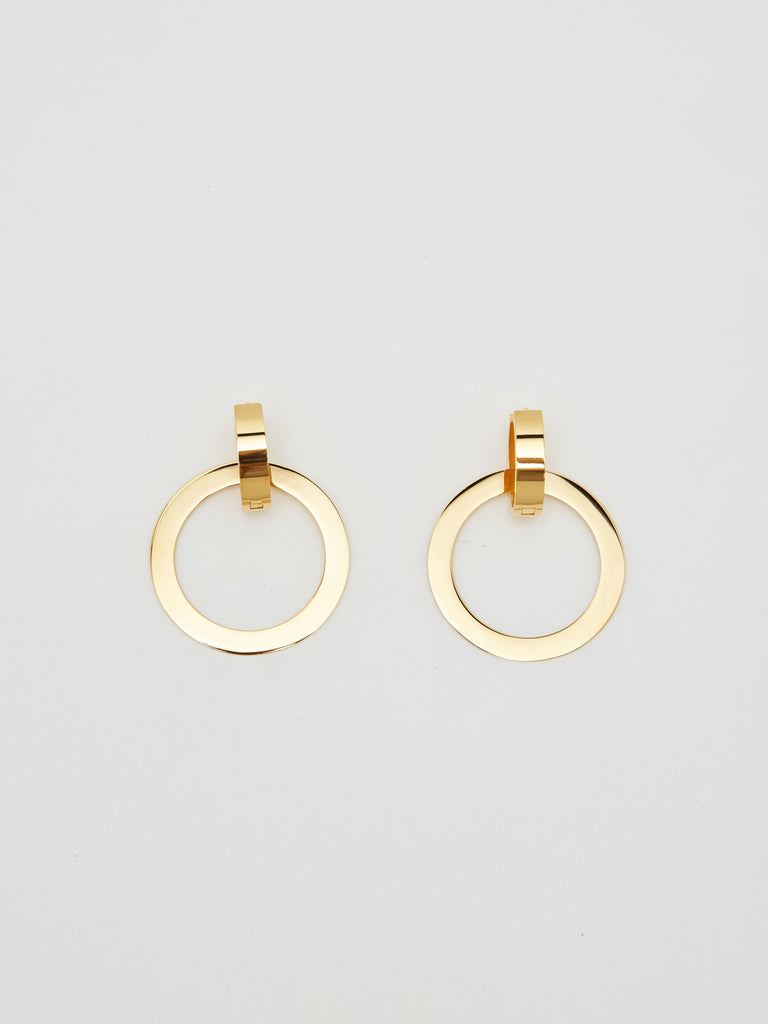 Gold Rita Hoops Earrings Bagatiba