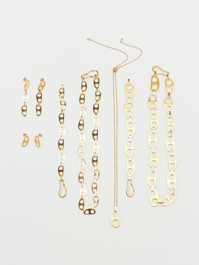 Gold Tab Drop Earrings Earrings bagatiba