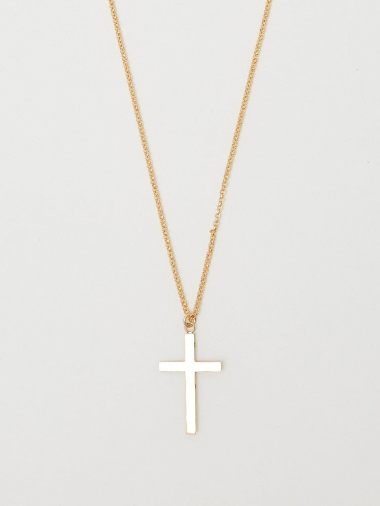 Long Roller Cross Necklace Necklace Bagatiba
