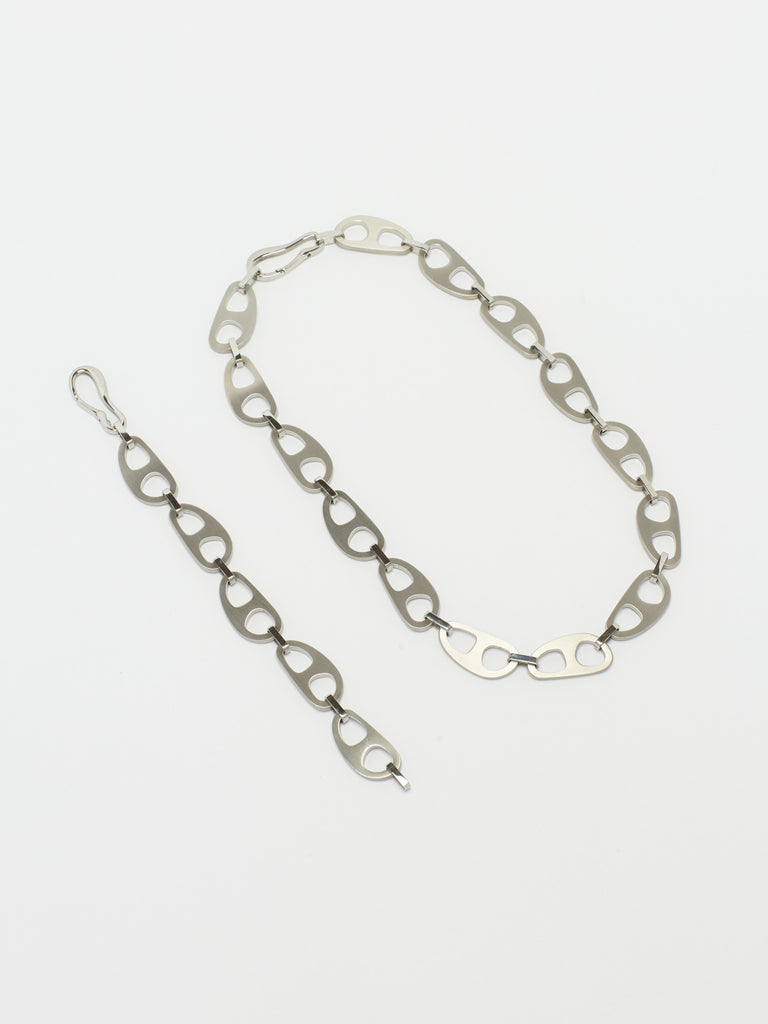 Silver Brushed Tab Necklace Necklace bagatiba