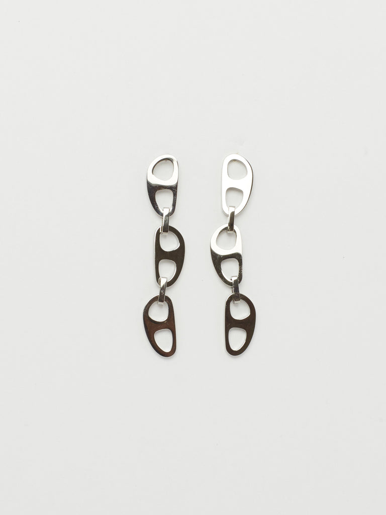 Silver Tab Drop Earrings Earrings bagatiba