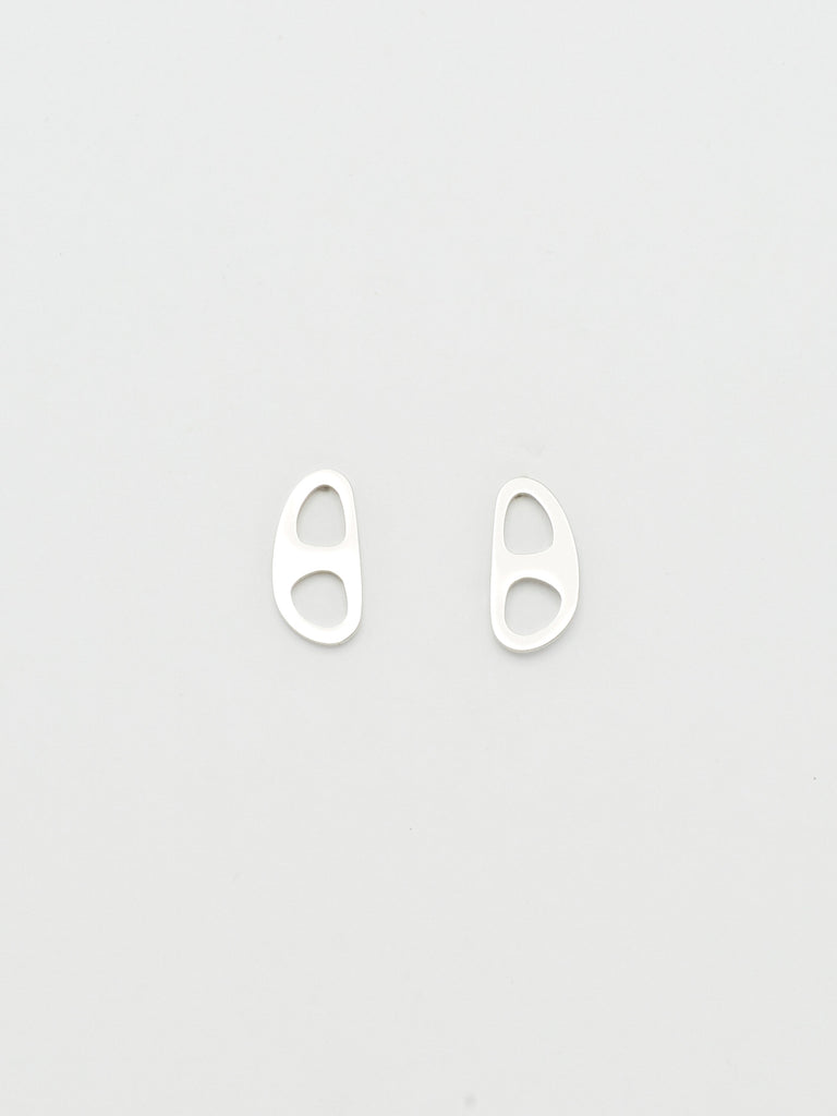 Silver Tab Studs Earrings bagatiba