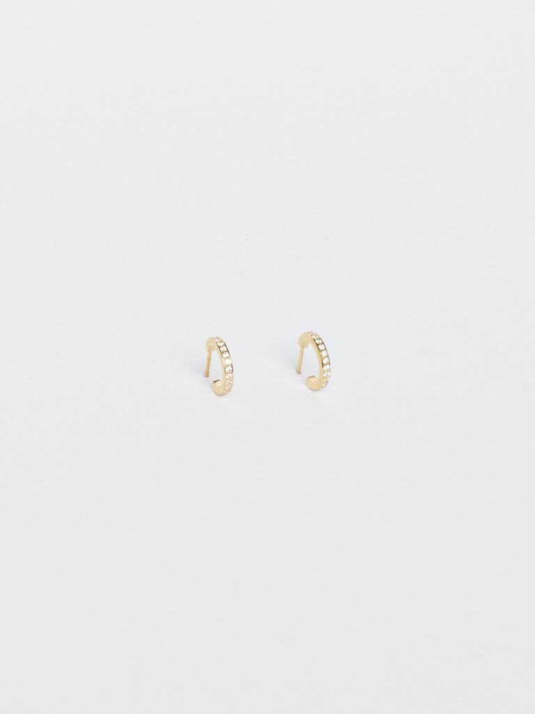 Small Diamond Hoops Earrings Bagatiba