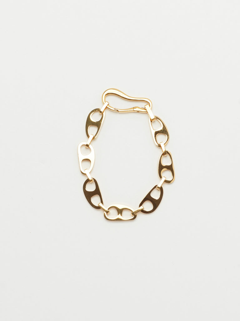 Small Gold Tab Bracelet Necklace bagatiba