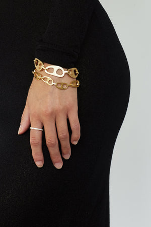 Small Gold Tab Bracelet