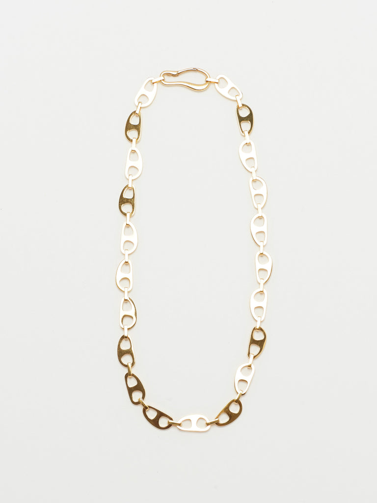 Small Gold Tab Necklace