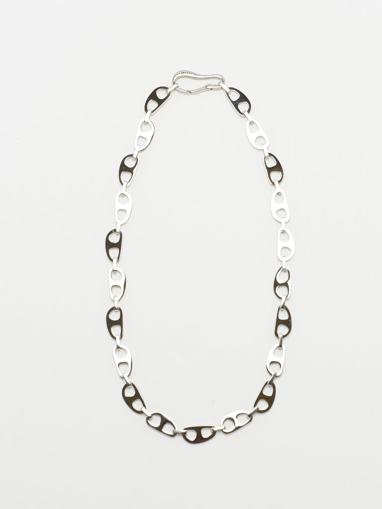 Small Silver Tab Necklace