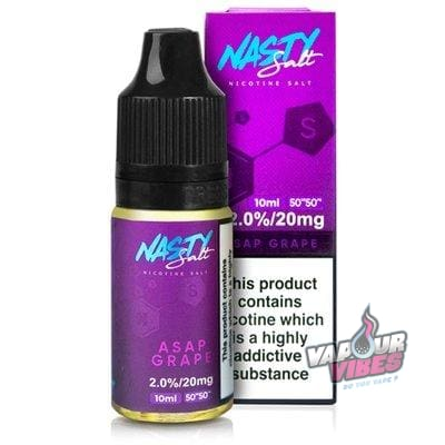 Asap Grape Nic Salt eLiquid - Nasty Juice 10ml - Vapour Vibes