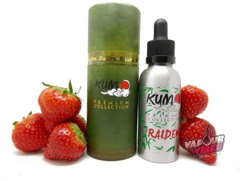 KUMO Raiden Strawberry eLiquid 50ml - Vapour Vibes