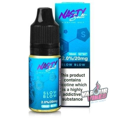 Slow Blow Nic Salt eLiquid - Nasty Juice 10ml - Vapour Vibes