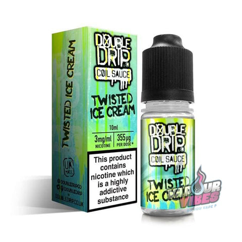 Twisted Ice Cream eLiquid 10ml - Double Drip - Vapour Vibes