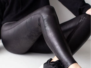 Spanx Faux Leather Leggings in Black