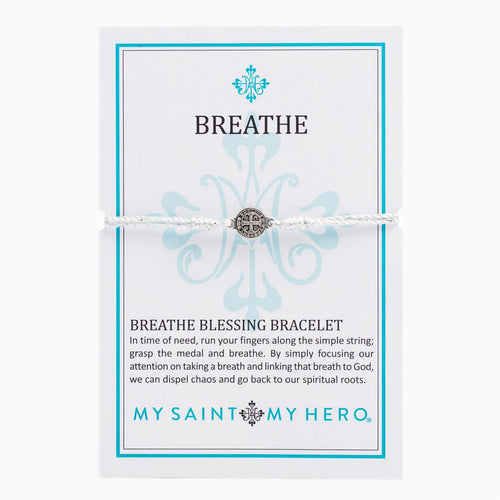 Breathe Blessing Bracelet- Metallic Silver/Silver - Inspired Style Boutique