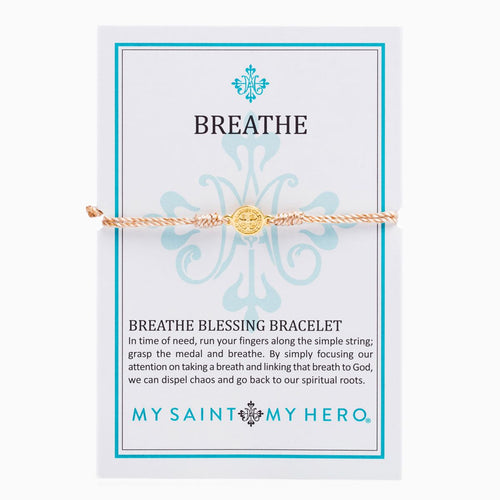 Breathe Blessing Bracelet- Metallic Gold/Gold - Inspired Style Boutique