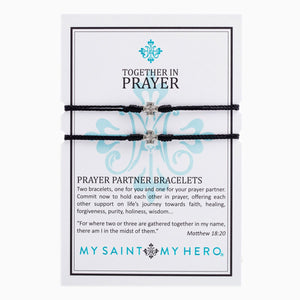 Prayer Partner Bracelet- Black/Silver