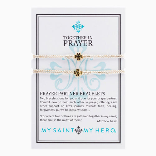 Prayer Partner Bracelet- Gold Metallic/Gold