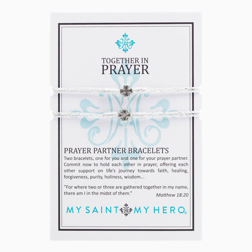 Prayer Partner Bracelet- Silver Metallic/Silver
