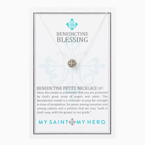 Benedictine Petite Necklace- Silver - Inspired Style Boutique