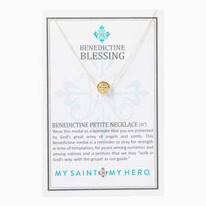 Benedictine Petite Necklace- Gold - Inspired Style Boutique