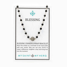 Blessing Choker and Wrap Bracelet Gold/Crystal