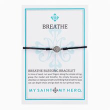 Breathe Blessing Bracelet- Black/Silver - Inspired Style Boutique