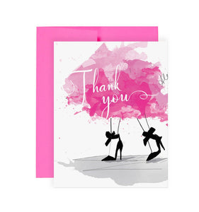 Pretty Thanks - Greeting Card