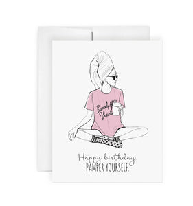 Pamper Birthday - Greeting Card