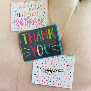 Thrilled Thank You Greeting Card
