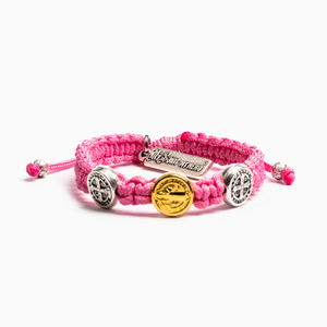 Benedictine Blessing Bracelet for Kids- Pink - Inspired Style Boutique