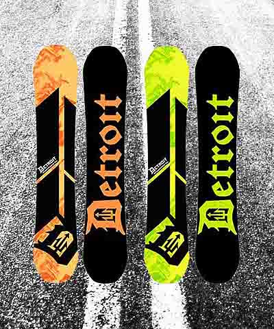 Detroit Surf Co. Snowboards