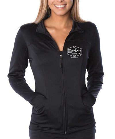 #1 Ladies poly-tech full zip track jacket