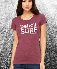 Ladies DSC distressed Logo Crew - Detroit Surf Co. - 1