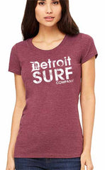 Ladies DSC distressed Logo Crew - Detroit Surf Co. - 3