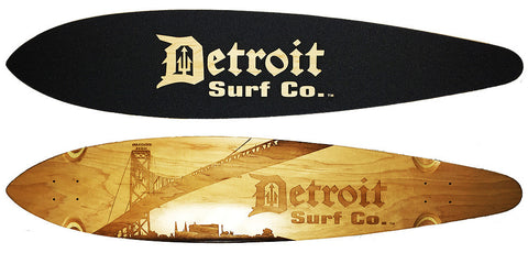 Corktown Pintail Longboard Deck (Deck Only) - Detroit Surf Co.