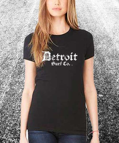 Classic Ladies Tri-Blend Crew Distressed Logo - Detroit Surf Co. - 1