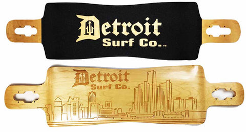 Detroit City Skyline Longboard Deck (Deck Only)
