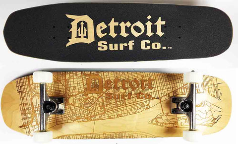 Shovel Nose Detroit Street Map skateboard