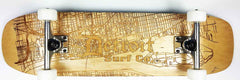 Detroit Street Map Skateboard V2