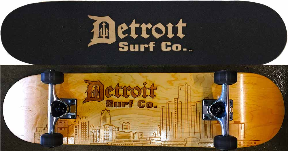 Detroit Skyline Skateboard V1