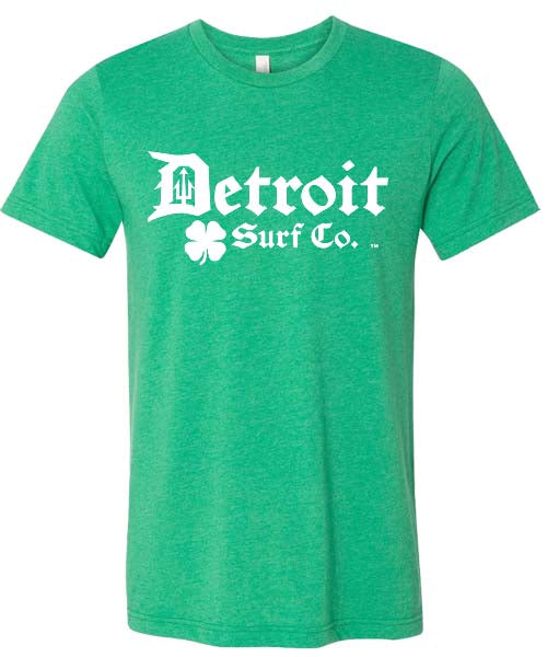 Detroit Surf Co. St. Patrick's day logo shirt