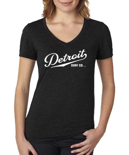 Ladies Script Logo V-Neck Tee