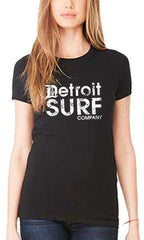 Ladies DSC distressed Logo Crew - Detroit Surf Co. - 2