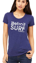 Ladies DSC distressed Logo Crew - Detroit Surf Co. - 4
