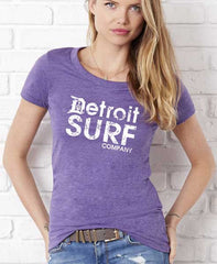 Ladies DSC distressed Logo Crew - Detroit Surf Co. - 5